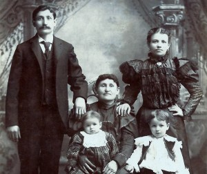 10_1899_Kallison-Family-in-Chicago-Standing_Nathan-(left),-Anna-(right),--Seated_Dina-Kallison-(center),-Pauline-(left),-Morris-(right)