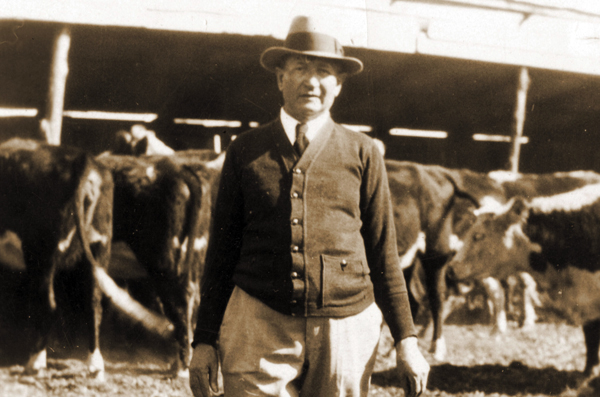 Nathan Kallison is shown here in 1927 on his ranch, which has become part of the Government Canyon State Natural Area.