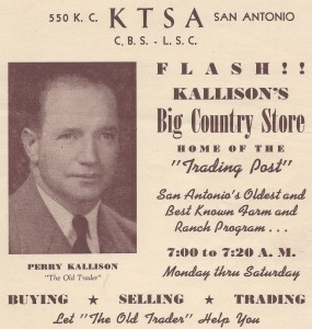 1940_Perry Kalliso_Trading Post Broadcast